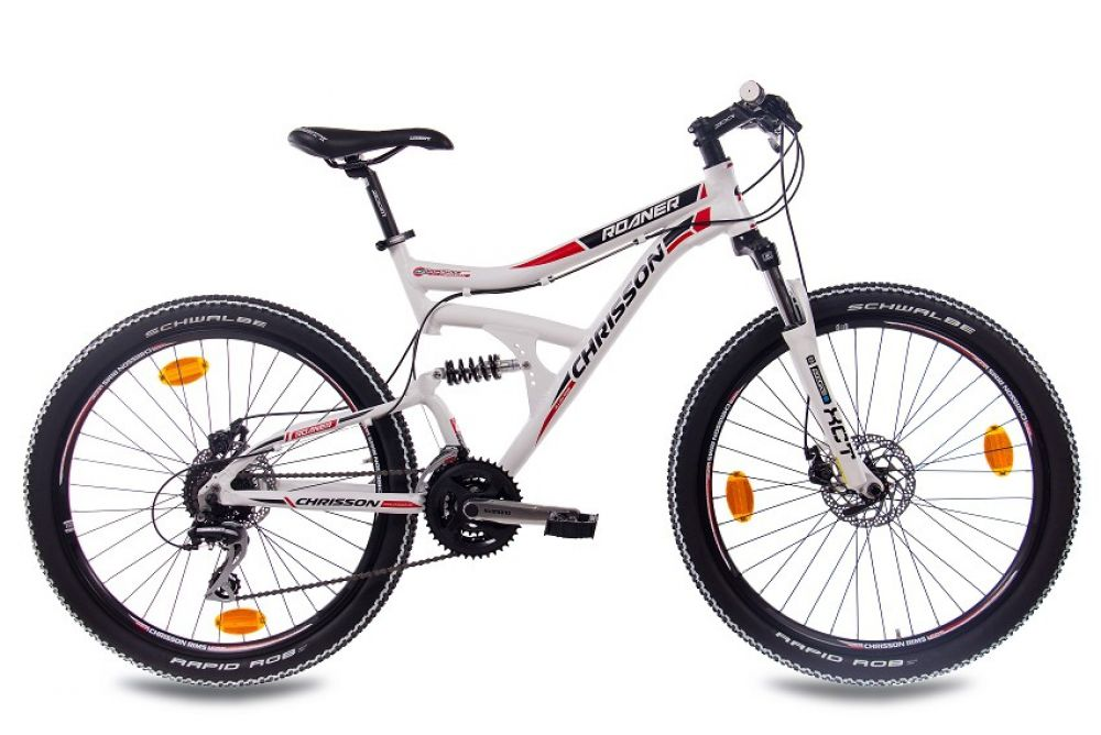 26 zoll mtb alu mountainbike fahrrad chrisson roaner 24g shimano weiss 2016 ebay