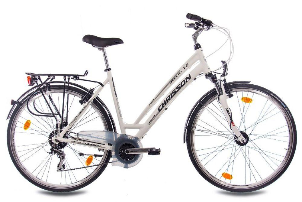 28 zoll alu city bike trekkingrad damenrad chrisson sereto 1 0 mit 24g weiss ebay. Black Bedroom Furniture Sets. Home Design Ideas
