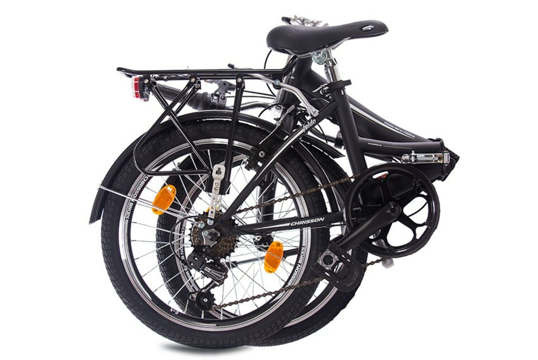 faltrad 20 zoll klapprad unisex fahrrad chrisson foldo 6g shimano schwarz matt ebay. Black Bedroom Furniture Sets. Home Design Ideas