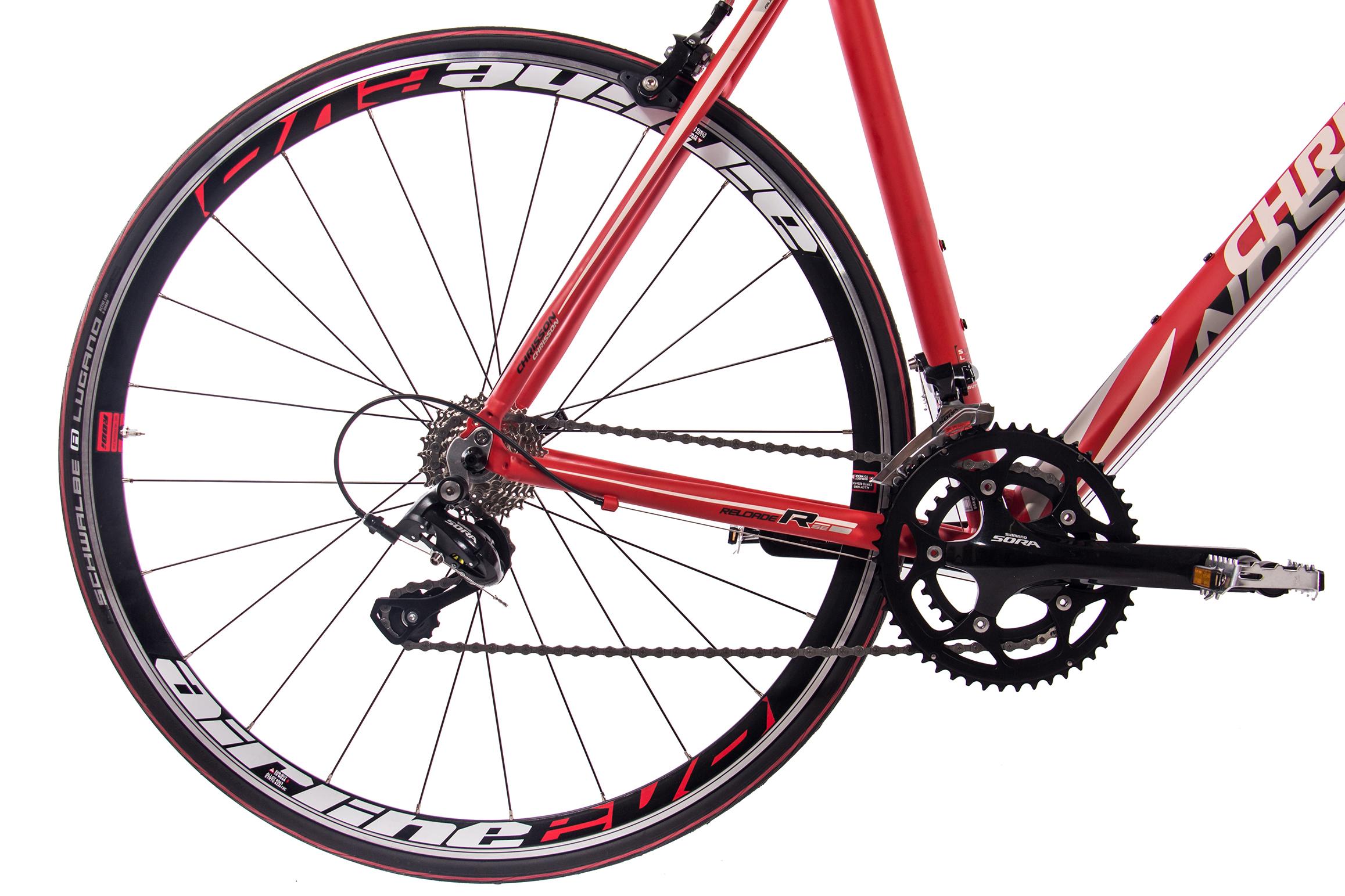 28-034-Zoll-ALU-Rennrad-Fahrrad-CHRISSON-RELOADER-mit-18G-SORA-CARBONGABEL-rot Indexbild 24
