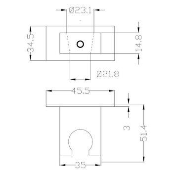 Handbrause Set Duschbrause mit Schlauch quadratisch Wandanschluss Bogen Brauseha