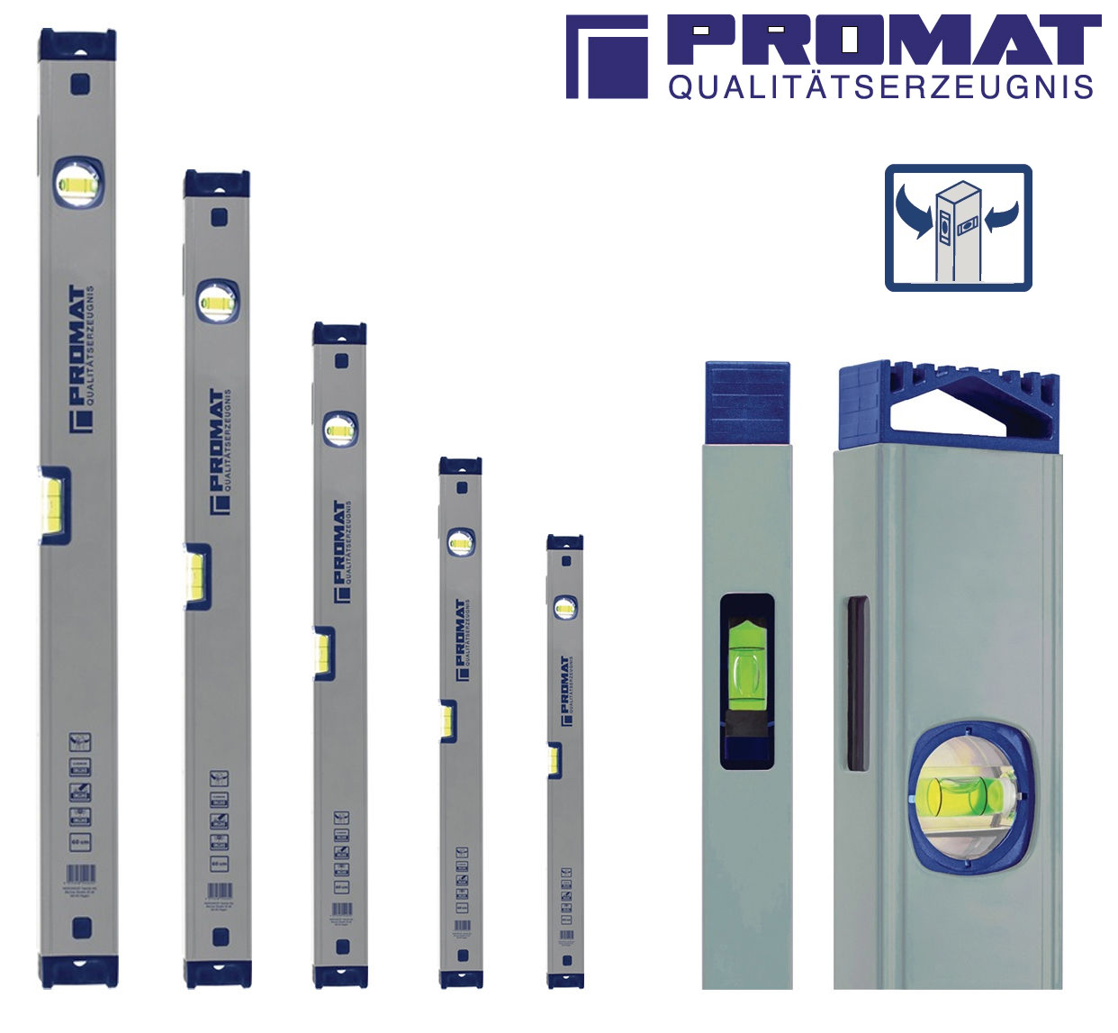 Promat Wasserwaage aus Aluminium
