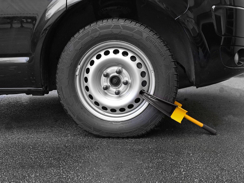 LAS Radkralle Diebstahlschutz Parkkralle für Auto, Anhänger oder ...