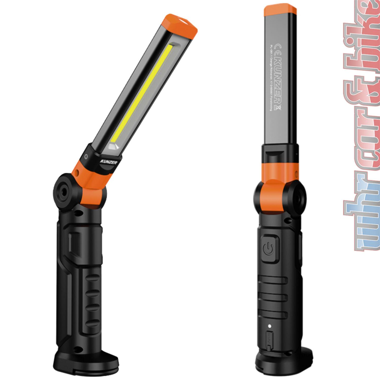 Kunzer Arbeitsleuchte PL-081 orange SMD LED Li-Ion Akku Arbeitslampe Magnet
