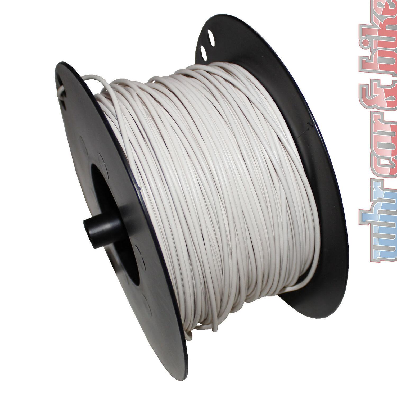 Hella KFZ-Kabel FLY Fahrzeugleitung 1,0 mm² weiß Kupfer 1-adrig Meterware
