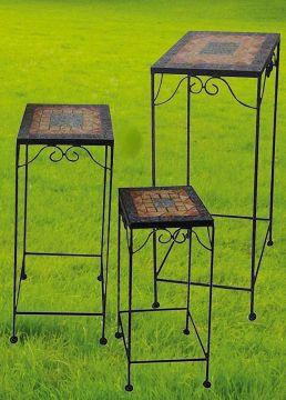 Linoows Nostalgia Bistro Table,Side Table Garden Table,Flower Table Iron White