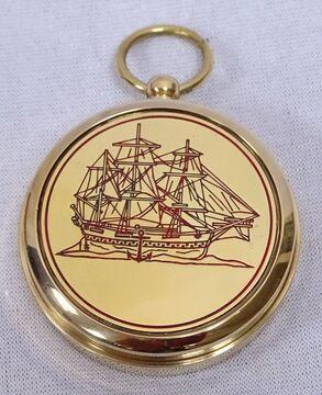 Messing//Kupfer Taschenkompass Taschenuhren Magnet Kompass mit Anker Symbol