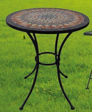 Détails sur G2321 : Table de Jardin Sardena,Mosaïque Meubles en  Méditerranée Manche,Ronde 60
