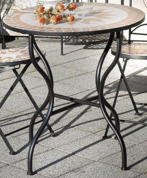 Détails sur G2346 : Table de Jardin Florenza,Mosaïque Meubles en  Méditerranée Manche,Ronde