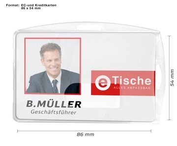 2x Kartenhülle Ausweishalter Ausweishülle Kartenhalter mit Ausweisjojo DE