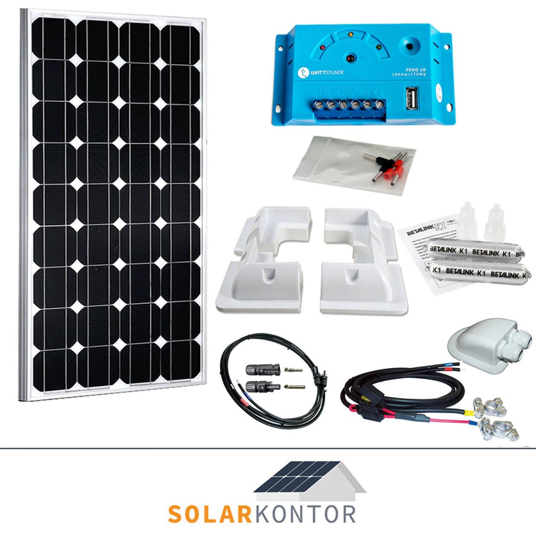 100w wattstunde wohnmobil 12v solaranlage solar set komplettpaket 100 watt hxe ebay. Black Bedroom Furniture Sets. Home Design Ideas