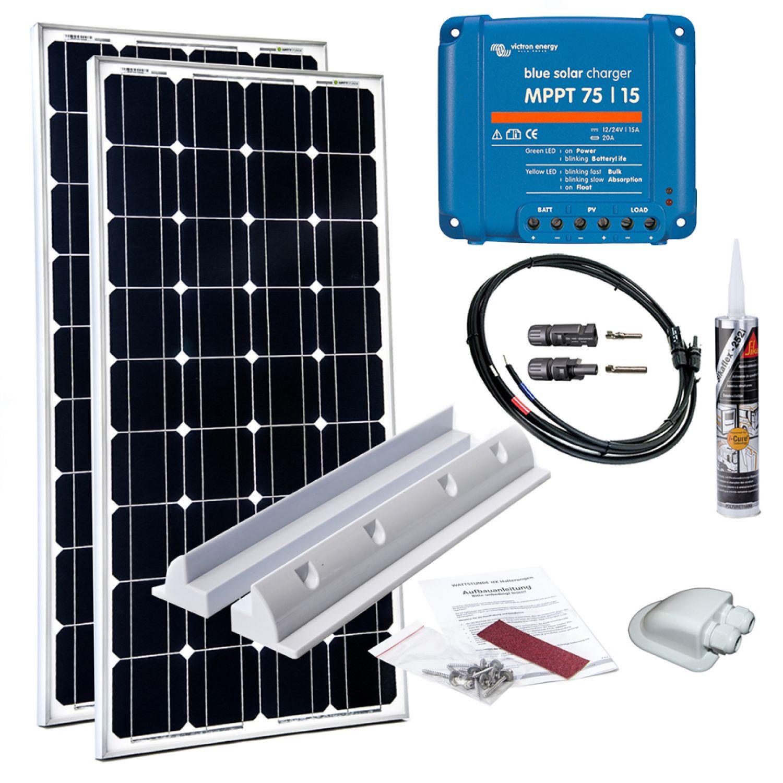 Details about 10W Wohnmobil Solaranlage Mono Victron MPPT 10V Solar Set  Laderegler Caravan