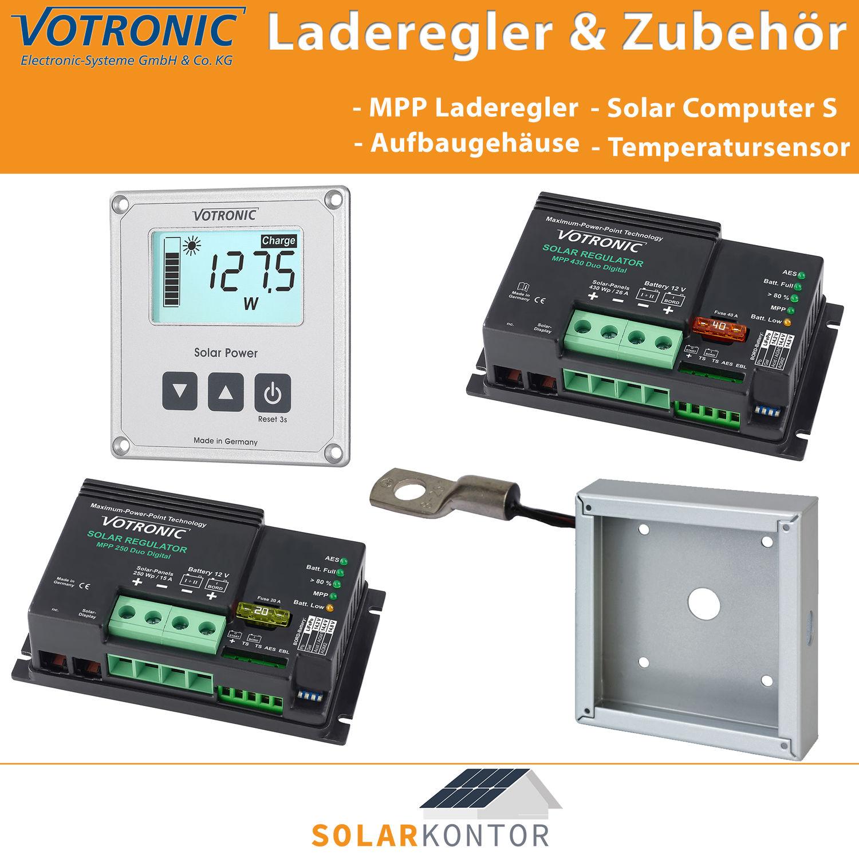 Votronic Solar Laderegler MPP Duo Dig 12V + 24V MPP 165 250 350 480 ...
