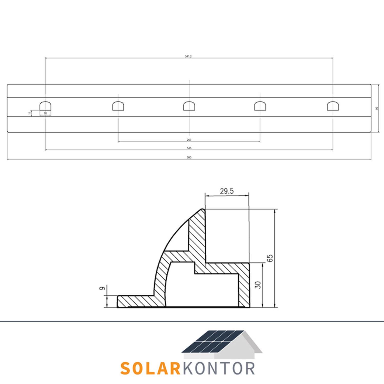 WATTSTUNDE/® Solar Haltespoiler Verbinder Set schwarz