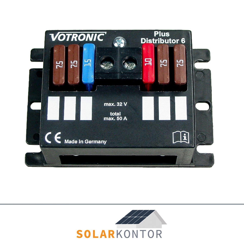 Votronic Plus Distributor 8 12V//24V Verteiler für 6 abgesicherte Ausgänge max96A
