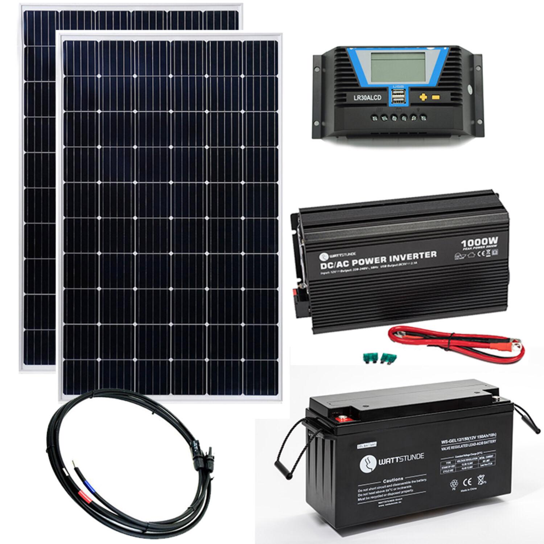 Insel oder Solar Anlagen 100Ah AGM AKKU Solarbatterie für Photovoltaik