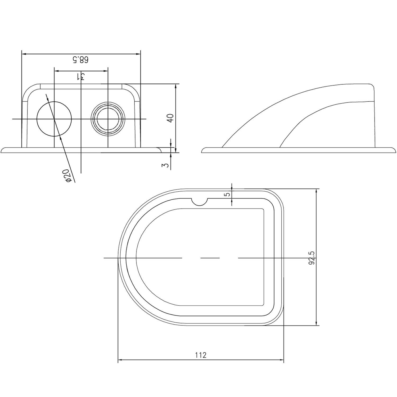 Details zu Wohnmobil Dachdurchführung Solar Kabeldurchführung Solarmodul  Befestigung UV
