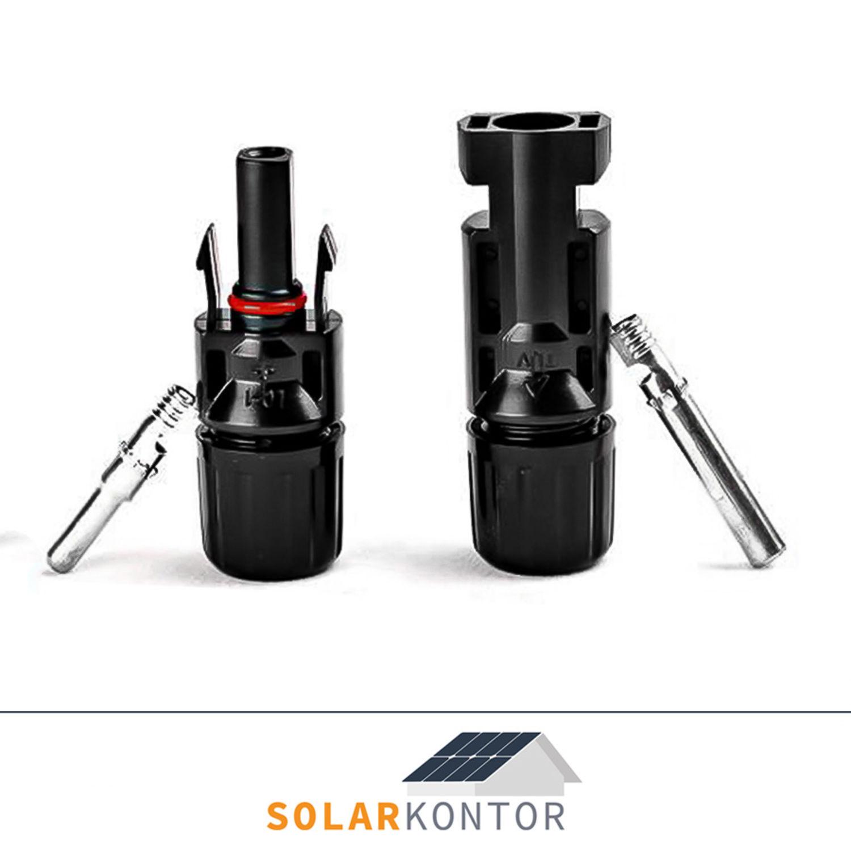 MC4-Steckverbinder-Set ohne Crimpen MC4 für Photovoltaikanlagen PV Solar