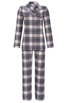 info for d82c1 33927 Details zu Ringella Damen Flanell Pyjama Gr. 38-46 Schlafanzug lang warm  kariert