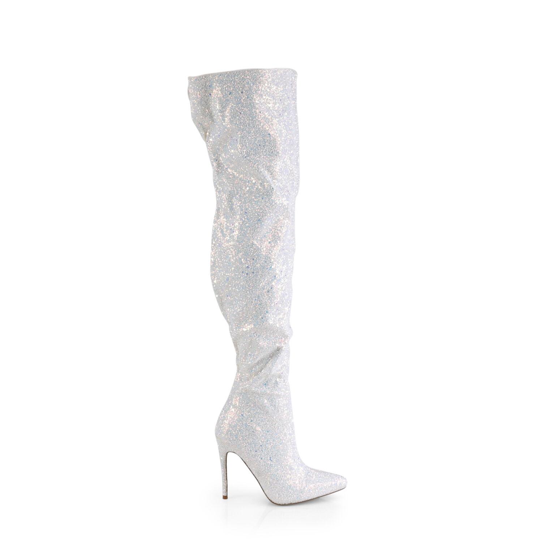 Overknee Stiefel COURTLY 3015 schwarz Multi Glitter