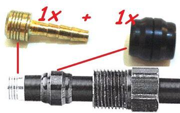10 Set Fahrrad Olive /& Pin Hydraulik Scheibe Bremse Schlauch Stecker Für Magura