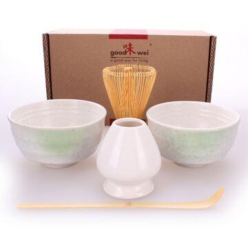 Goodwei Japanisches Matcha Komplett-Set mit hochwertiger Teeschale Menouseki, 120
