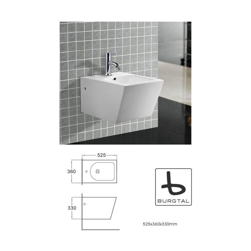 Bidet Quado Bb-03 Dusch Wc Aus Keramik In Weiß • Wandhängend • Bd Bad