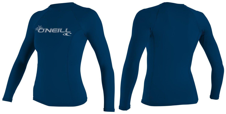 O´Neill Rash Guard WMS BASIC SKINS L//S CREW Surfshirt UV Badeshirt Schwimmshirt