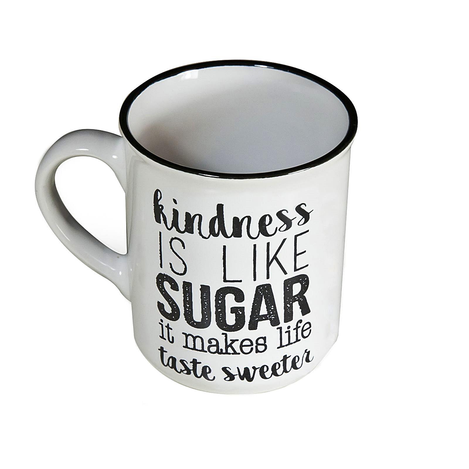 6er set tasse tassen 300 ml kaffeetasse gro e becher keramik kaffee mug aufdruck ebay. Black Bedroom Furniture Sets. Home Design Ideas