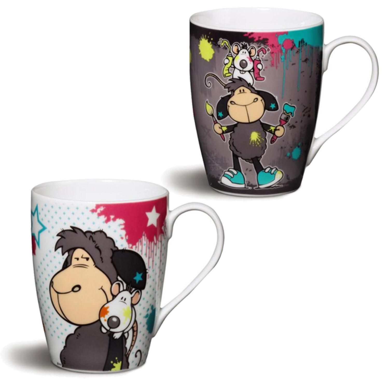 5ddba622e34 Nici Tasse JollyLeory & Ratte Geschenk Becher Porzellan Tassen Kaffeetasse