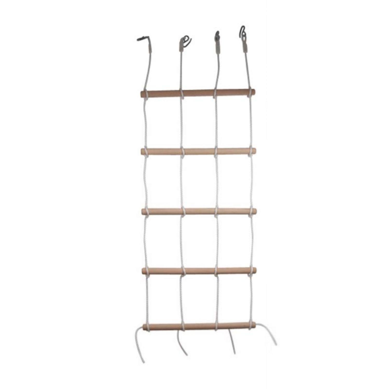 Kletterwand 200cm Kinder Holz Strickleiter Kletterleiter ...