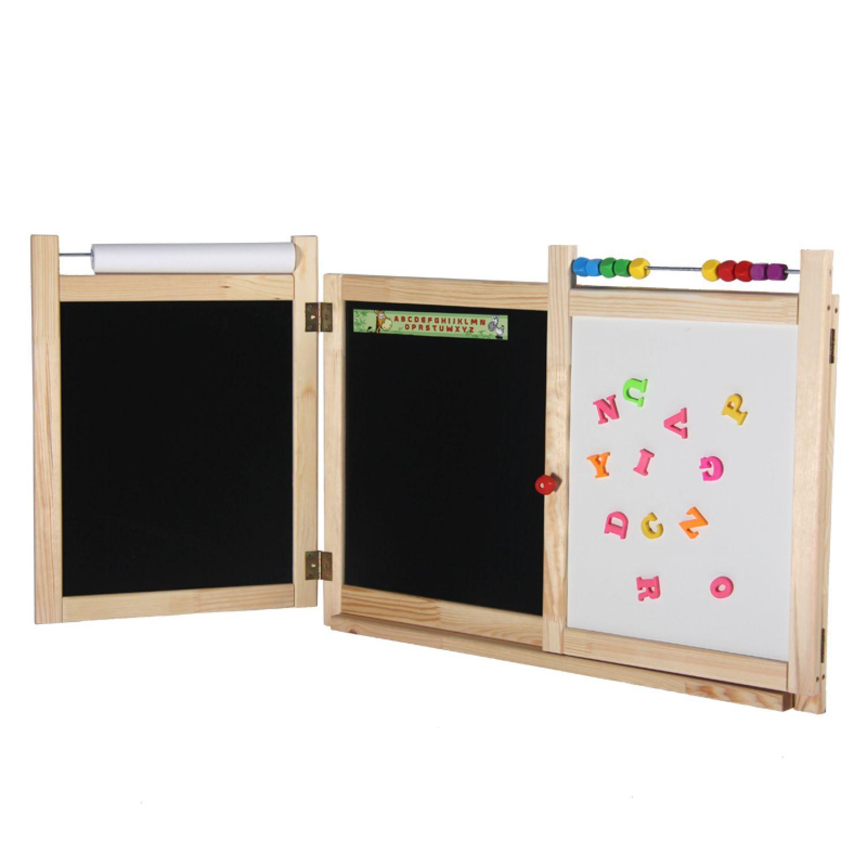 kindertafel schultafel magnet tafel kreidetafel maltafel holztafel klapptafel ebay. Black Bedroom Furniture Sets. Home Design Ideas