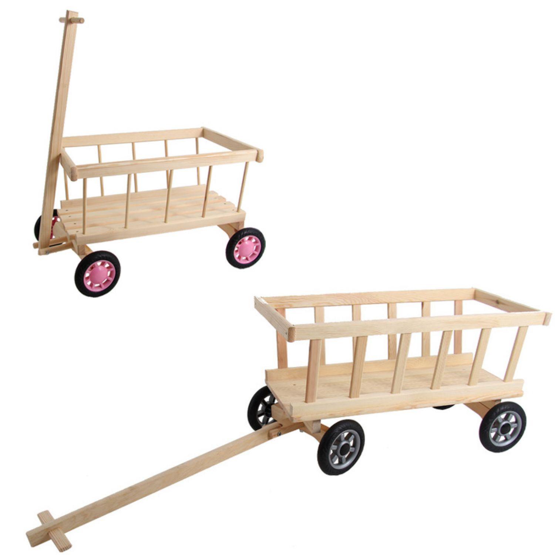 Chariot Transport Bois - Chariot Enfants Bois Naturel De Traction Transport Jardinage Voiture En eBay