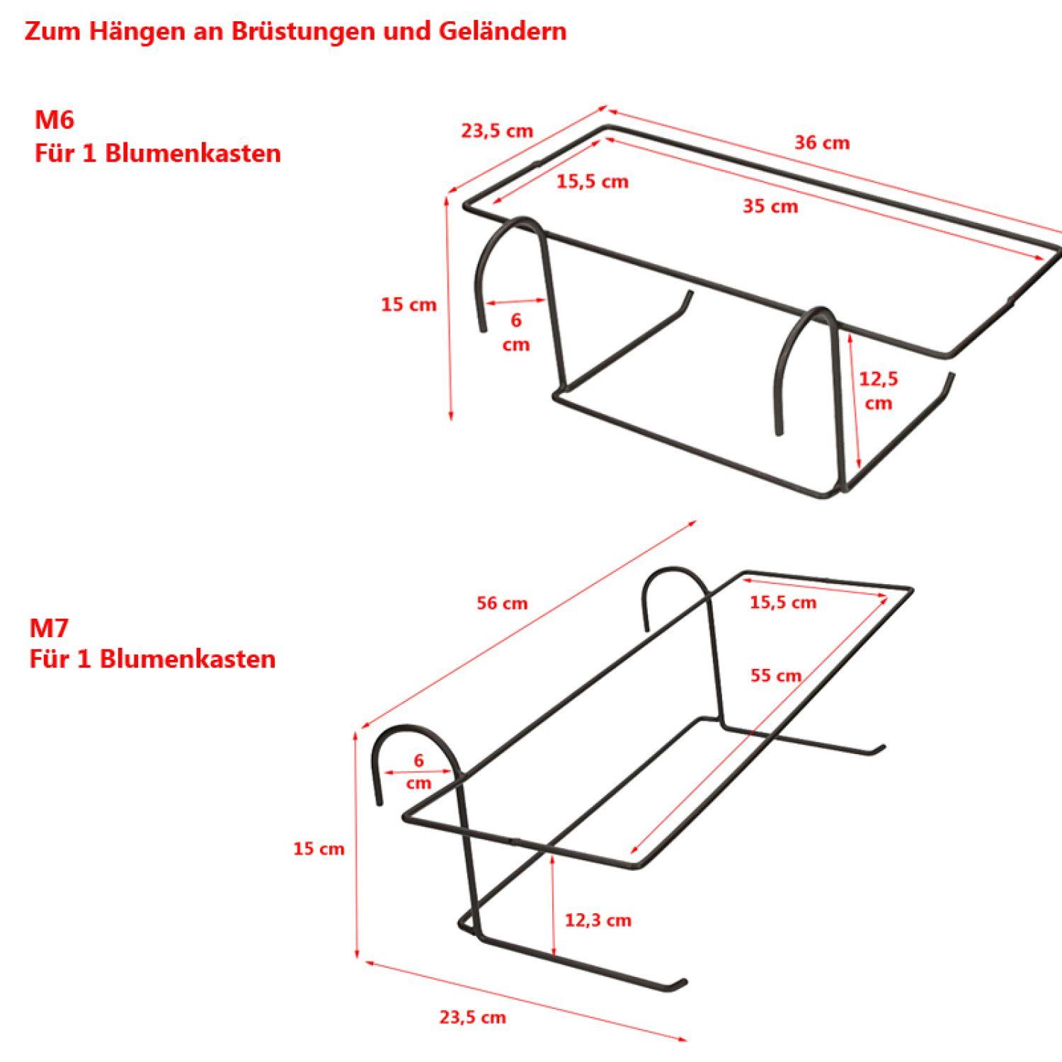 blumentopfhalter blumenst nder halterung f r blumenkasten. Black Bedroom Furniture Sets. Home Design Ideas