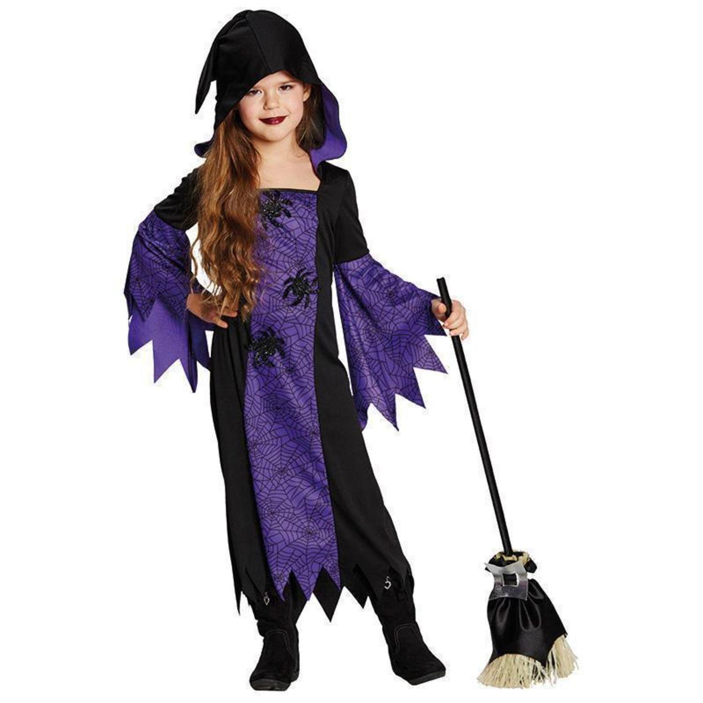 Hexe violett Gr. 116 - 164 Fasching Karneval Kostüm Halloween Party ...