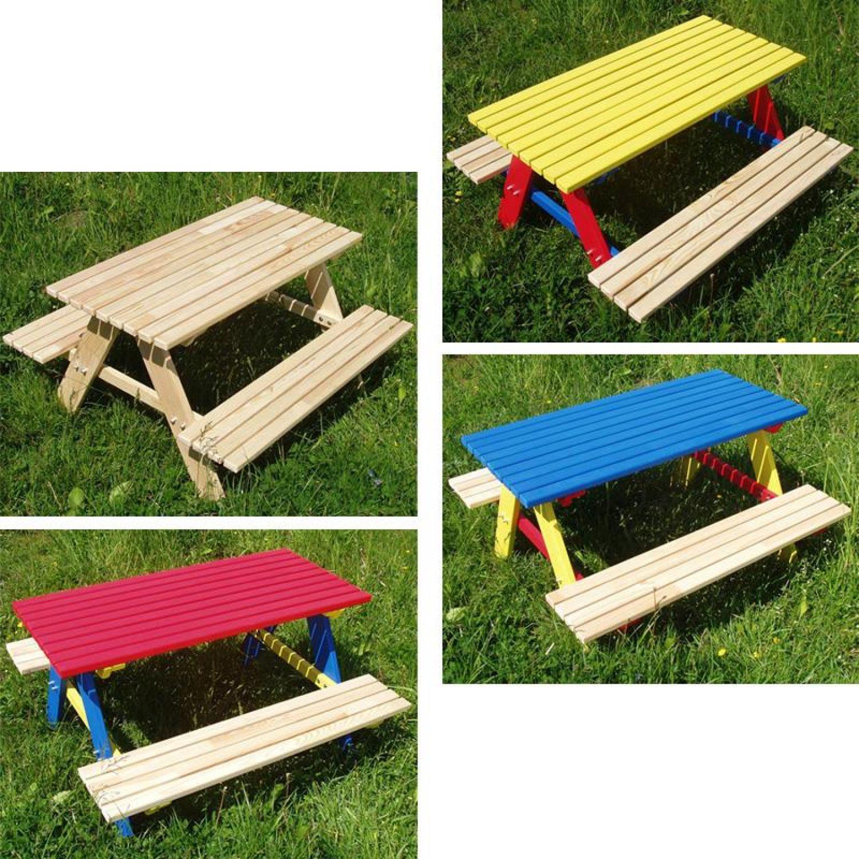 Kindersitzgarnitur 4 Sitzer Kinder Sitzgruppe Holz Garten Tisch Bank ...