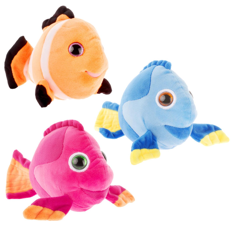 Plüschtier Fisch 20cm Glitzer Blickfang Kuscheltier Stofftier Plüsch ver Farben Stofftiere