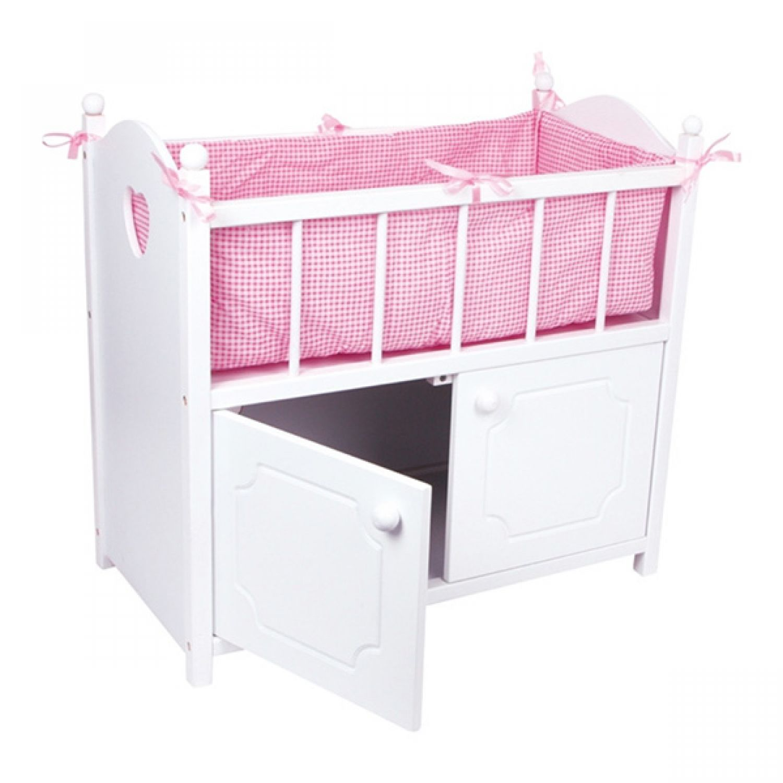 puppenbett mit schrank 58x54cm puppenm bel puppe holz bett puppenzubeh r ebay. Black Bedroom Furniture Sets. Home Design Ideas