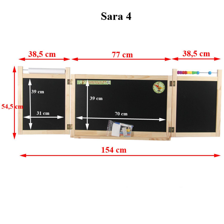 mur tableau pour enfants d 39 cole aimant dessiner panneau en bois klapptafel ebay. Black Bedroom Furniture Sets. Home Design Ideas