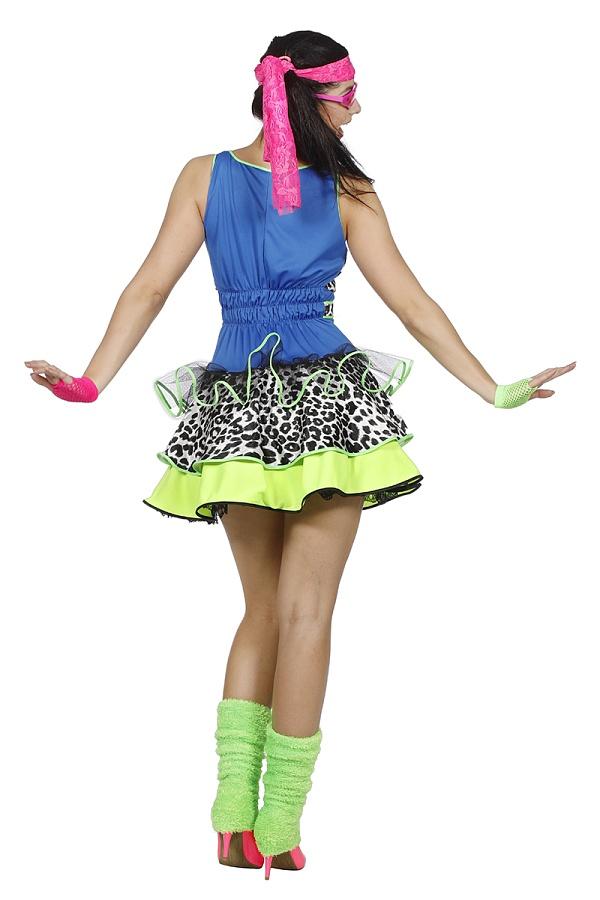 80er jahre party girl kost m damen verkleidung kleid 80er retro outfit kleid ebay