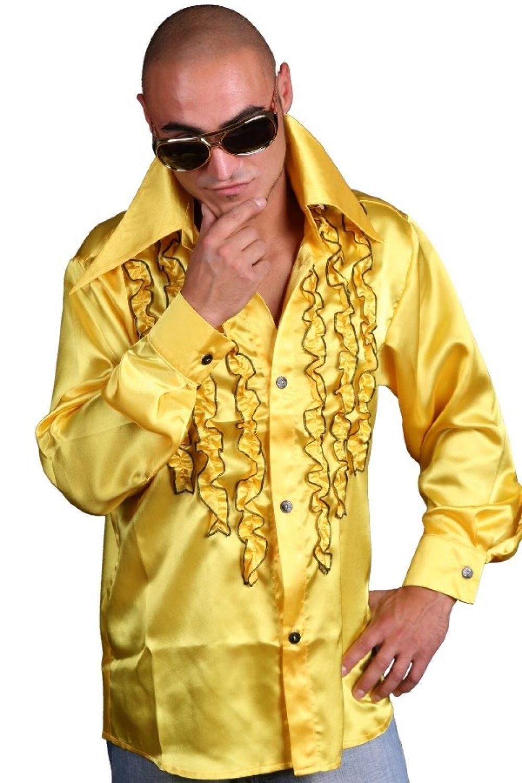schlagerhemd gelb retro hemd 70er 80er jahre disco look schlager hemden m l xl ebay. Black Bedroom Furniture Sets. Home Design Ideas