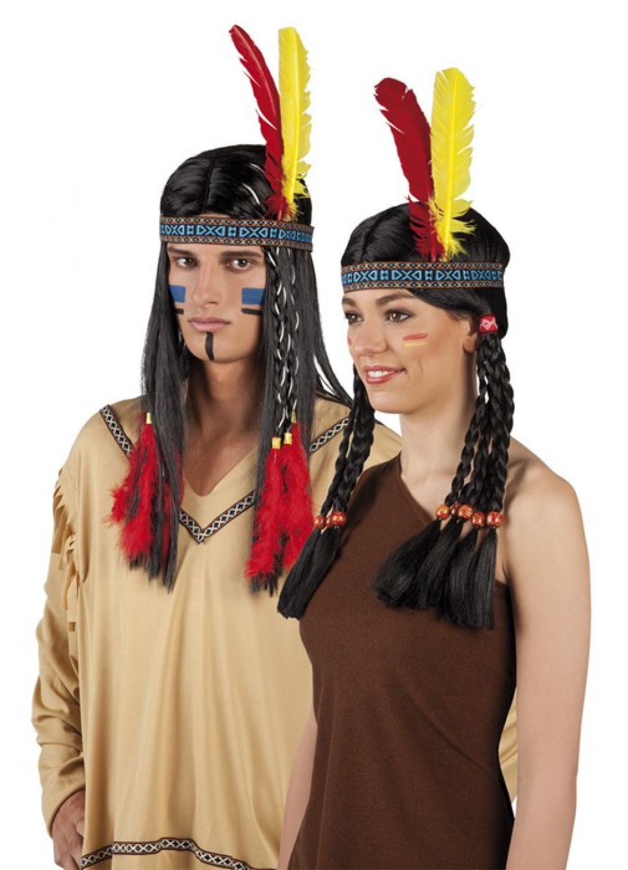 Indianer Stirnband Kopfschmuck Federschmuck Western Zubehör ...