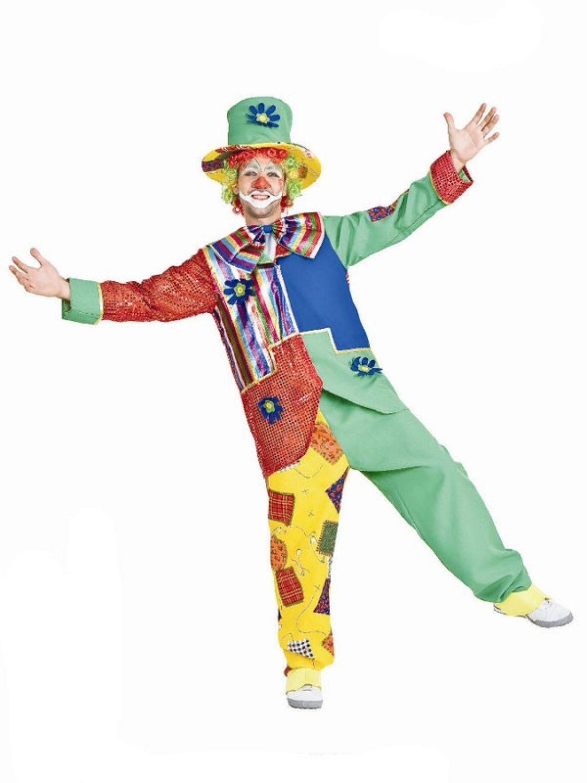 Clown Kostum Herren Zirkus Karnevalskostum Fasching Verkleidung