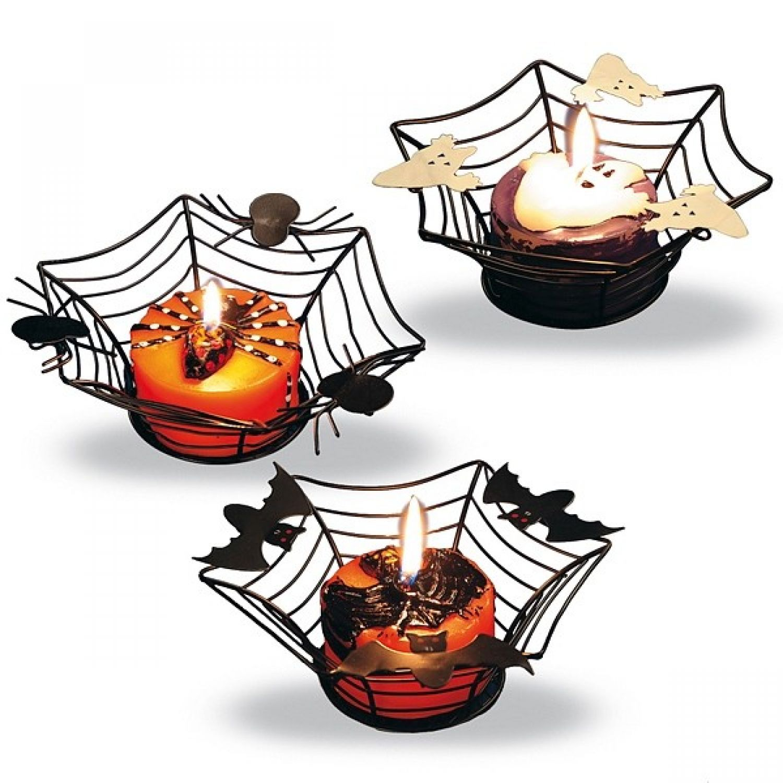 Halloween Tischdeko Deko Dekoration Kerze Gespenst Geist Kurbis