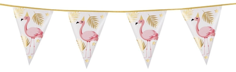 Flamingo Wimpelkette Partyzubehör Wanddeko Partydekoration ca 4m Flamingodeko