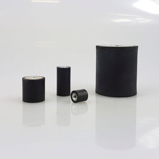 Mittel oder Weich Silentblock Gummipuffer Typ D Ø6-200mm M3-M20 in Hart