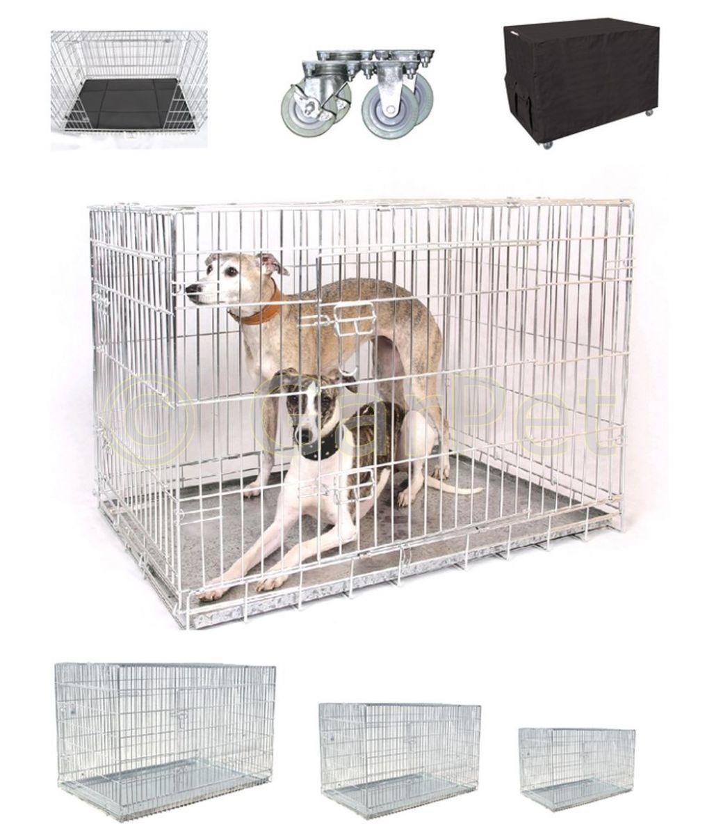 Hunde Drahtkäfig Transportbox Hundebox Metall Käfig Transportkäfig ...