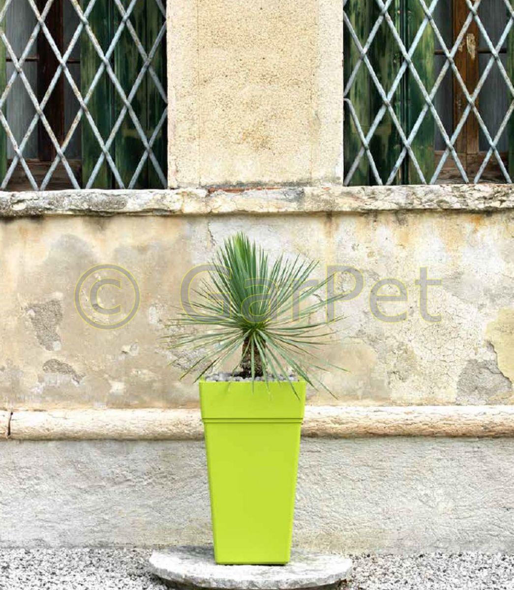 Pflanzkübel mit Wasserspeicher groß eckig Hoch Pflanz Gefäß Blumen ...