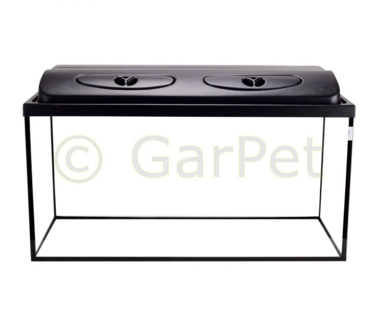 aquarium rechteckig mit abdeckung inkl led beleuchtung im. Black Bedroom Furniture Sets. Home Design Ideas