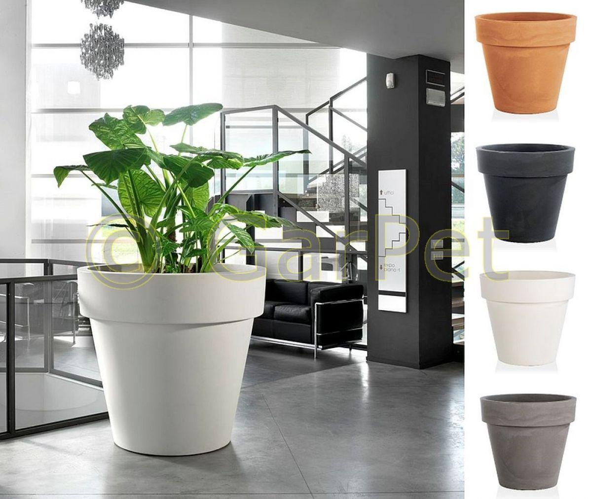 pflanzkübel blumen planz gefäß topf xxl kunststoff groß rund indoor